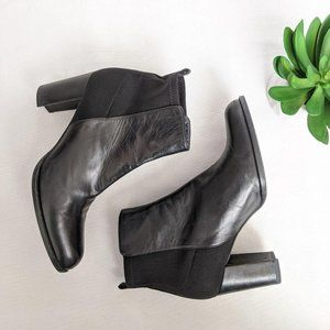STUART WEITZMAN Black Ankle Booties Soft Leather 8